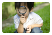 boy with his magnifying glass